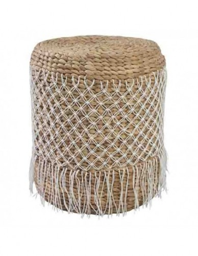 CINJUNTAI STOOL WATERHYACINTH WEBBING. DIA. 2-3 MM COTTON ROPE KNOT WEBBING