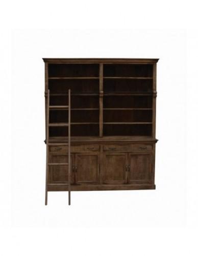 Auxiliar Librería Puertas de Madera Estilo Vintage, Interior