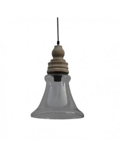 Iluminación Lamparas techo de Cristal Estilo Industrial, Interior