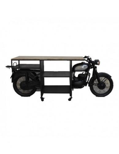 Vehículo Moto Auxiliar de Hierro Estilo Industrial, Interior