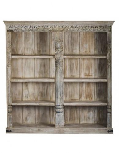 Armario Librería de Madera Estilo Exotico - Color White wash, Interior