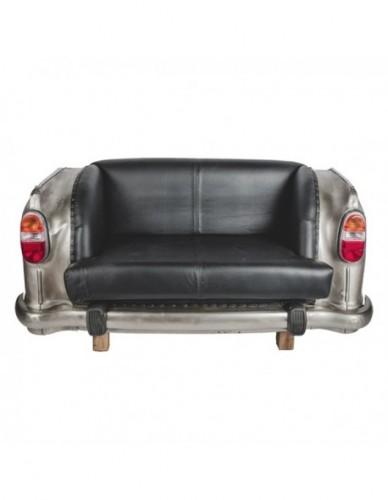 Vehículo Coche Sofa de Hierro Estilo Vintage - Color Silver, Interior