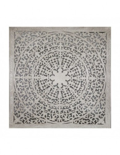 Decoración Mandala de Madera Estilo Exotico - Color White wash, Interior