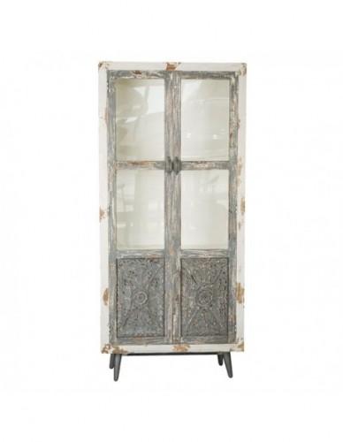 Armario Cristal de Madera Print Estilo Exotico, Interior