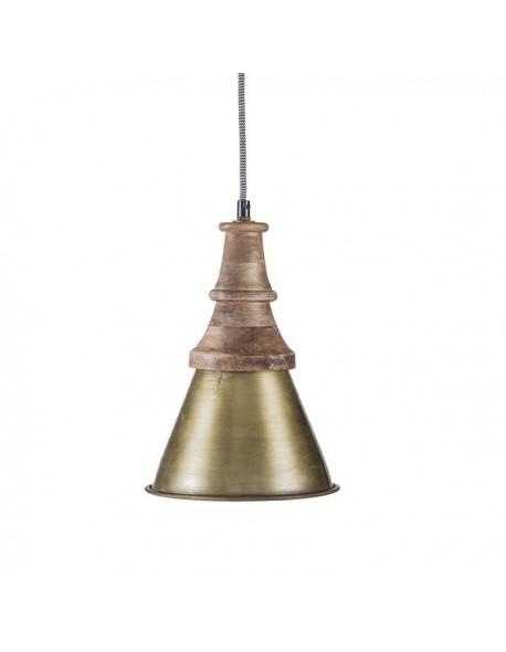 Iluminación Lamparas techo de Hierro Madera - Color Gold, Interior