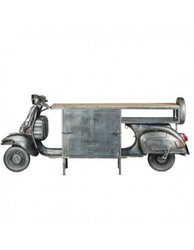 Vehículo Moto Auxiliar de Hierro Madera - Color Old black, Interior