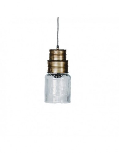 Iluminación Lamparas techo de Hierro Cristal Estilo Industrial, Interior