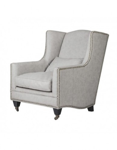 Sillon 1 plaza de Piel sintetica - Color Grey wash