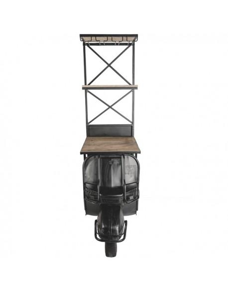 Vehículo Moto Estanteria de Hierro Estilo Industrial - Color Negro, Interior