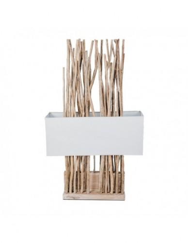 Iluminación Lampara sobre mesa de Ramas Madera Estilo Natural - Color White wash, Interior
