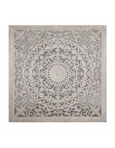 Decoración Mandala de Madera Estilo Exotico - Color White wash, Interior