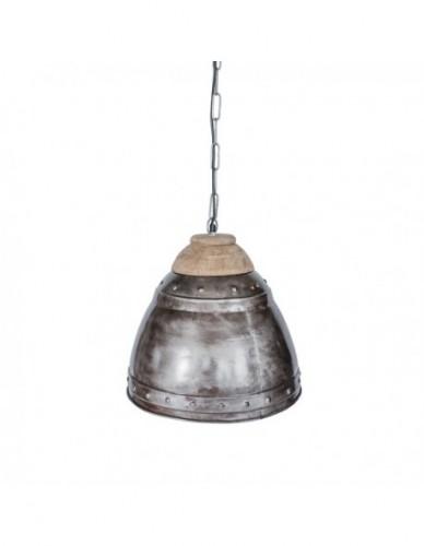 Iluminación Lamparas techo de Hierro Madera Estilo Industrial - Color Silver, Interior