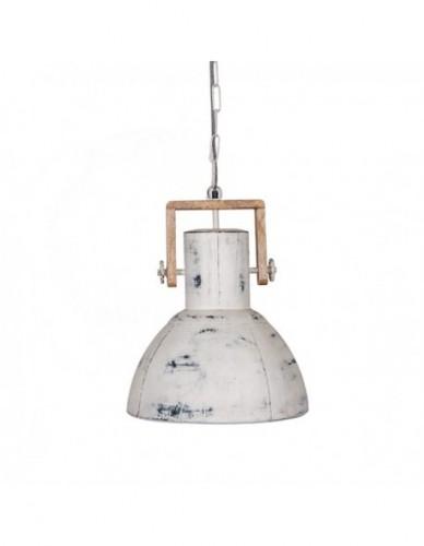 Iluminación Lamparas techo de Hierro Madera Estilo Industrial - Color White wash, Interior