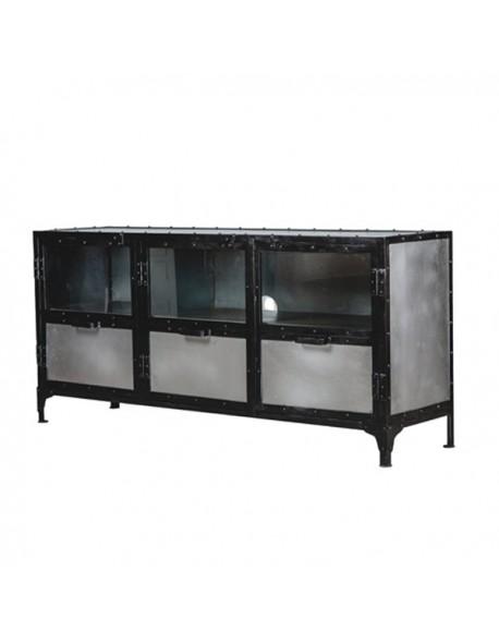 Aparador TV Con ruedas de Hierro Estilo Industrial, Interior
