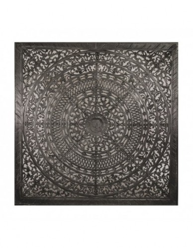 Decoración Mandala de Madera Estilo Exotico - Color Black wash, Interior