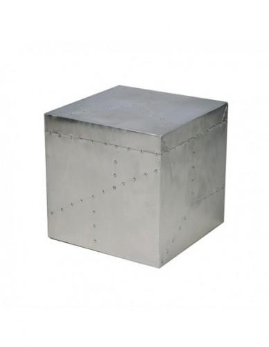 Pouff de Aluminio Estilo Aviador - Color Silver, Interior