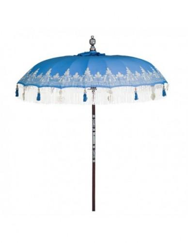 Sombrilla de playa de Tela Print - Color Azul Blanco, Exterior