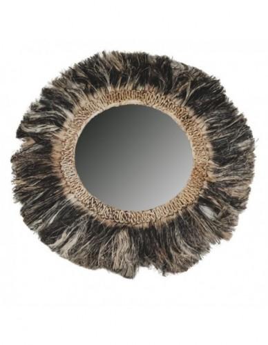 Decoración Espejos de Rattan y tela